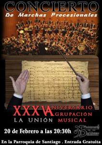 coral anniversarium Cartel XXXV Aniversario am union montilla
