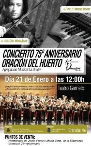 cartel concierto am union estreno marcha miguel angel font la rosa montilla