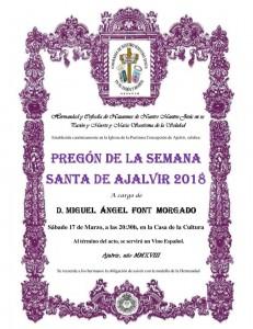cartel pregon semana santa 2018 miguel angel font morgado